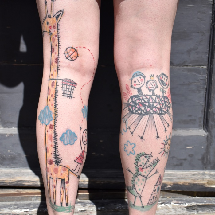 miriam_frank_tattoo_giraffe_children_sketch