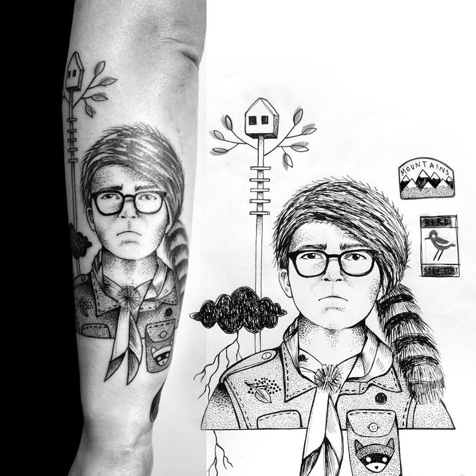 Miriam_frank_tattoo_blackwork_wesanderson_moonrisekingdom